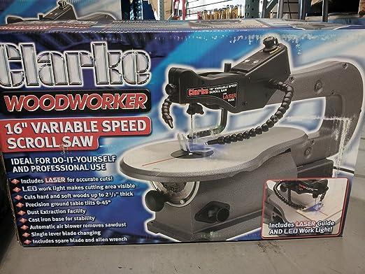 7. Clarke Woodworker 16'' Variable Speed Scroll Saw Model BT1016B