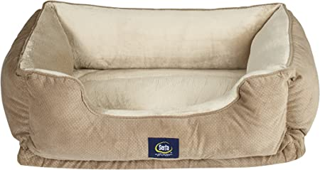 Amazon Com Serta Ortho Cuddler Pet Bed Tan Pet Supplies