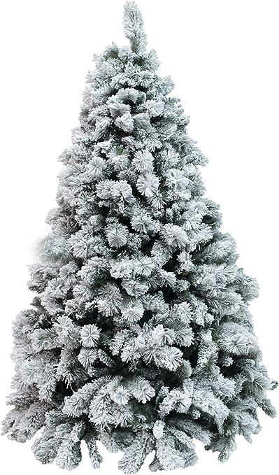 Alberi Di Natale Xone.Xone Albero Milton Innevato 210 Cm Albero Artificiale Bianco Albero Di Natale Con Neve Pp Pvc Effetto Aghi Di Pino Amazon It Casa E Cucina