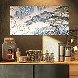 Designart Chinese Blue Tree Art-Floral Painting Canvas Print-32x16, 32x16