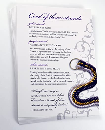 Amazon cord of three strands explanation cards pack of 20 cord of three strands explanation cards pack of 20 stopboris Images