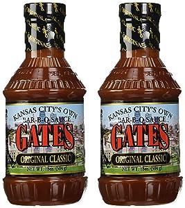 Gates Original Classic Bar-B-Q Sauce, 18 Ounce Bottle (Pack of 2), Kansas City Style Barbecue Sauce