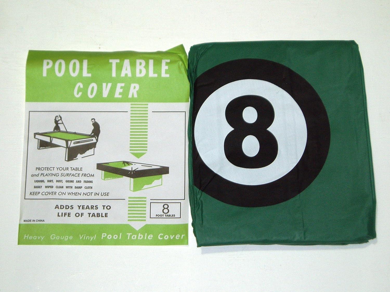 Billardtisch-Abdeckung für 8ft Tisch mit 8Ball Design * * SGL
