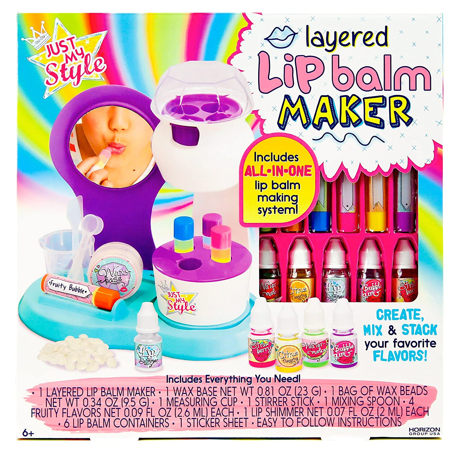 Just My Style Lip Balm Maker Art and Craft Kit by Horizon Group USA