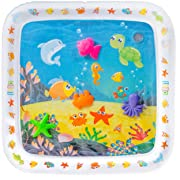 Lella Baby Toys - Premium Inflatable Tummy Time Water Mat - for Babies Infants & Toddlers - Play Activity Center for Baby Stimulation and Growth - Developmental - Indoor & Outdoor Play Mat - BPA Free