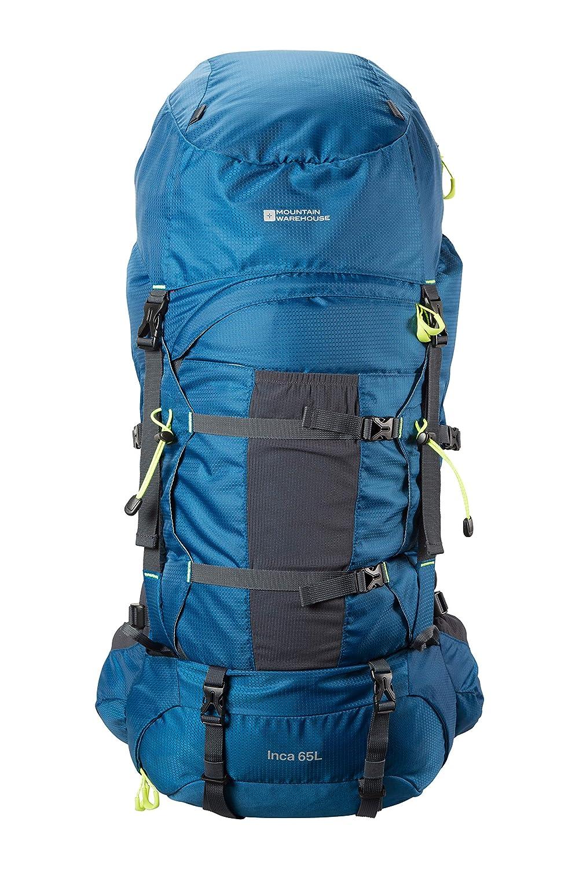 Mountain Warehouse Inca Extreme 65-l-Rucksack - robuster Ripstop-Rucksack, Brust- Hüftriemen, Regenschutz - 77,5 cm x 34 cm x 25 cm - für Festivals, Camping