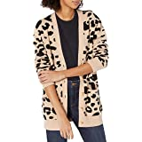 Amazon Brand - Daily Ritual Women's Ultra-Soft Leopard Jacquard Cardigan Sweater