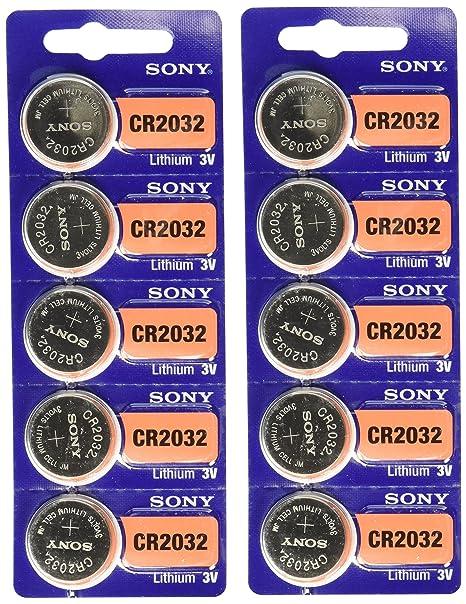 5 Piles Bouton 3V SONY CR2032 LITHIUM DL2032 BR2032 KL2032 L2032 ECR2032 CR2032H