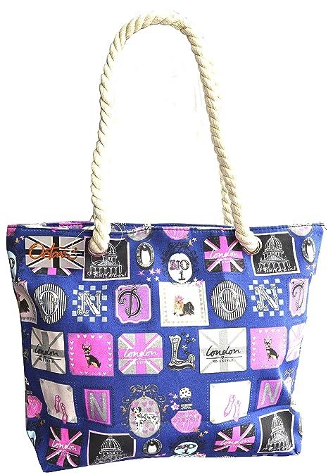 Amazon.com: Octava Ladies Verano Playa bolsa Bolsos de Mano ...