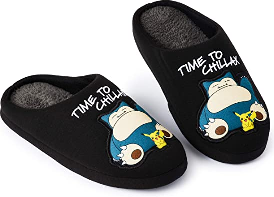 Mens Slippers with Snorlax Pikachu