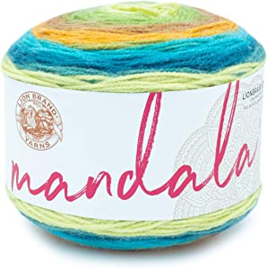 Lion Brand Yarn 525-228 Mandala Yarn, 1-Pack, Kelpie