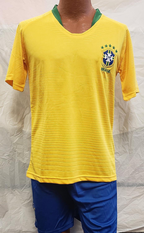 新しい。Brasil National Teamロシア2018 Short and Jersey 2 pcサイズMedium B07CKH4CBS