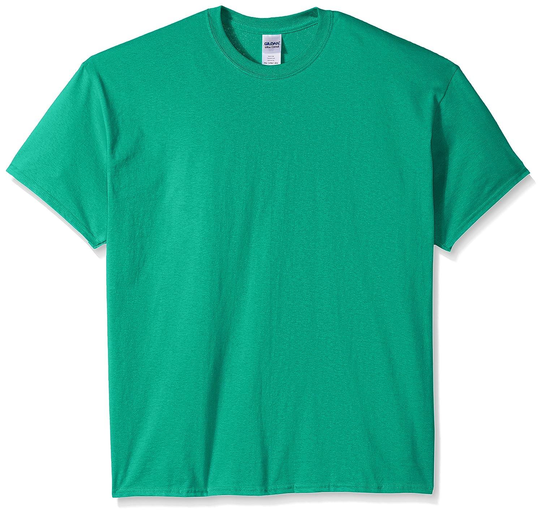 (ギルダン) Gildan メンズ ウルトラコットン クルーネック 半袖Tシャツ トップス 半袖カットソー 定番アイテム 男性用 B01M0PEPPA XXXL|ケリーグリーン ケリーグリーン XXXL