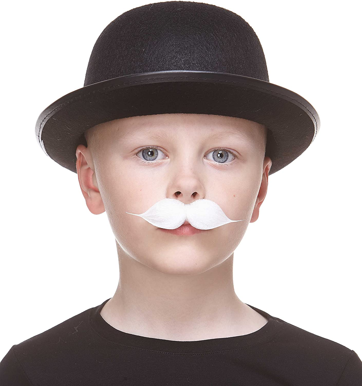 Novelty Small Puaro False Facial Hair Mustaches Fake Mustache Self Adhesive Costume Accessory for Kids