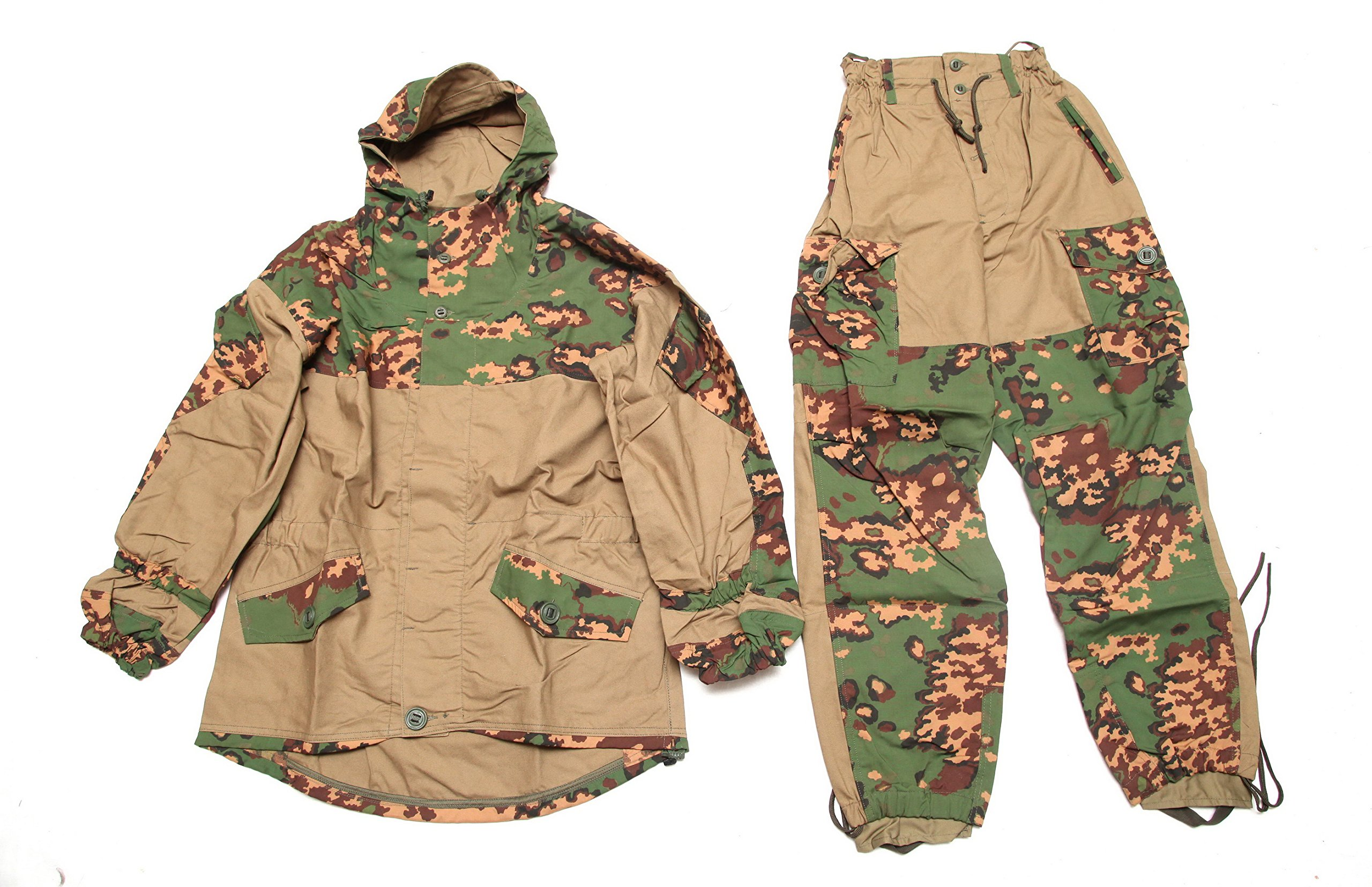 Gorka-E summer camo Russian hunting hiking mountain military BDU uniform suit SPOSN/SSO (52/4(Chest 41' Waist 34' Height 69'))