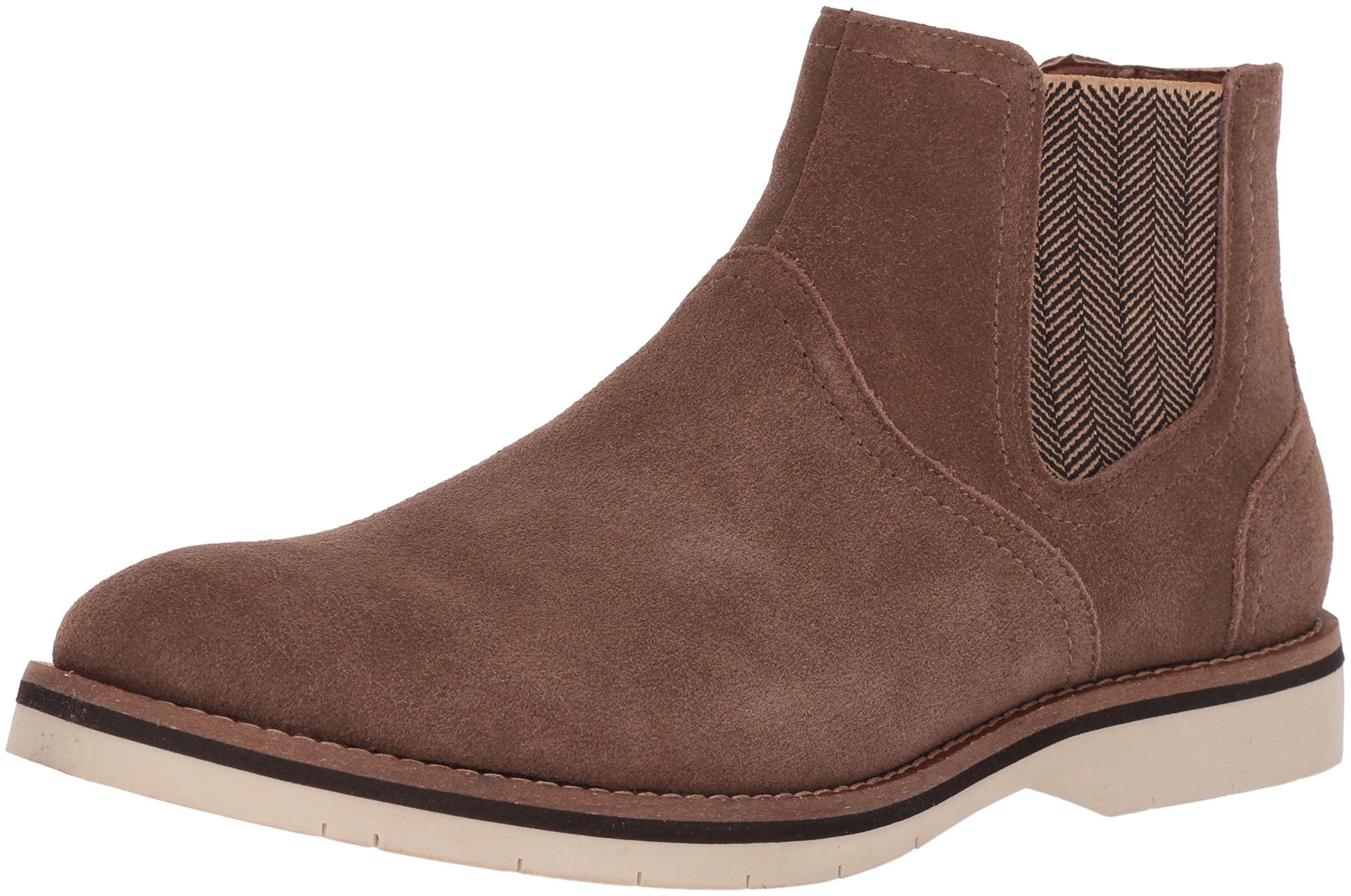 Steve Madden Men's Saine Chelsea Boot, Taupe Suede, 9.5 M US by Steve Madden