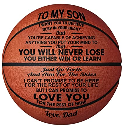 GadgetsTalk Engraved Basketball Gift - Unique Gifts for Son from DAD - You  Will Never Lose - from DAD