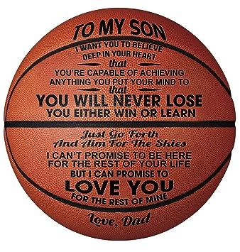 Regalo de Baloncesto Grabado - You Will Never Lose Hijo de papá ...