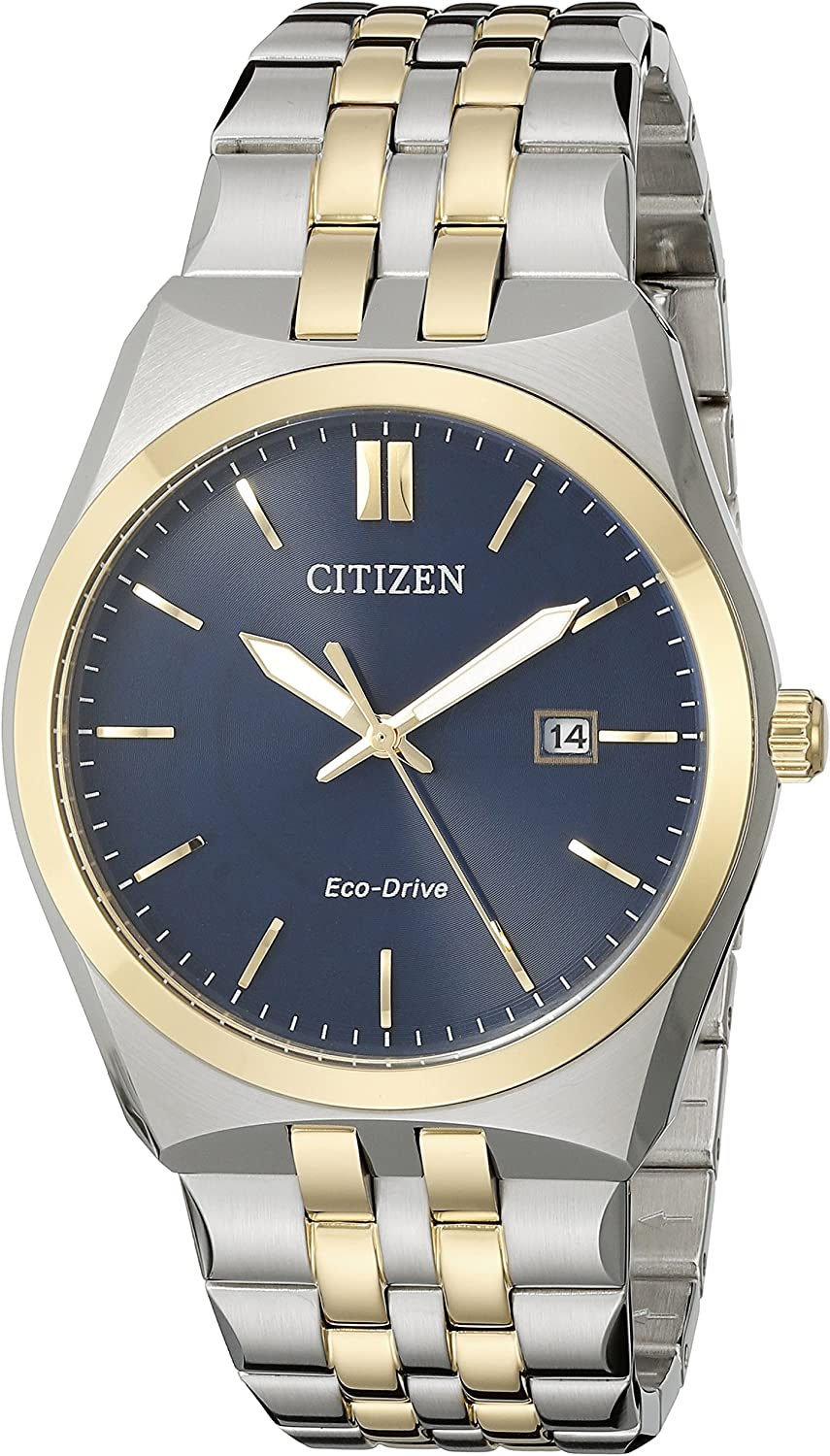 Amazon Com Citizen Men S Eco Drive Stainless Steel Watch With Date Bm7334 58l Watches