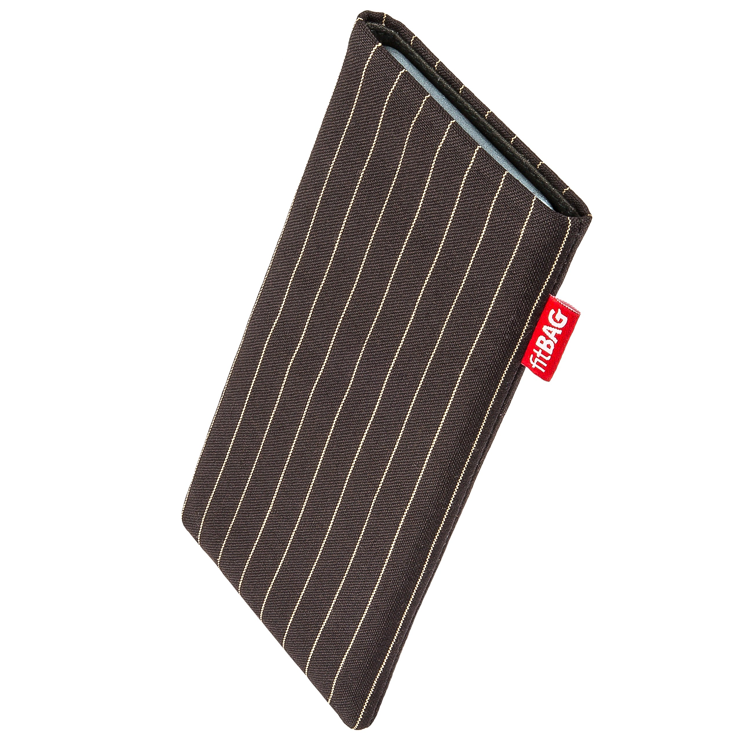 fitBAG Twist Brown custom tailored sleeve for Thomson Connect TH701. Fine suit fabric pouch with integrated MicroFibre lining for display cleaning