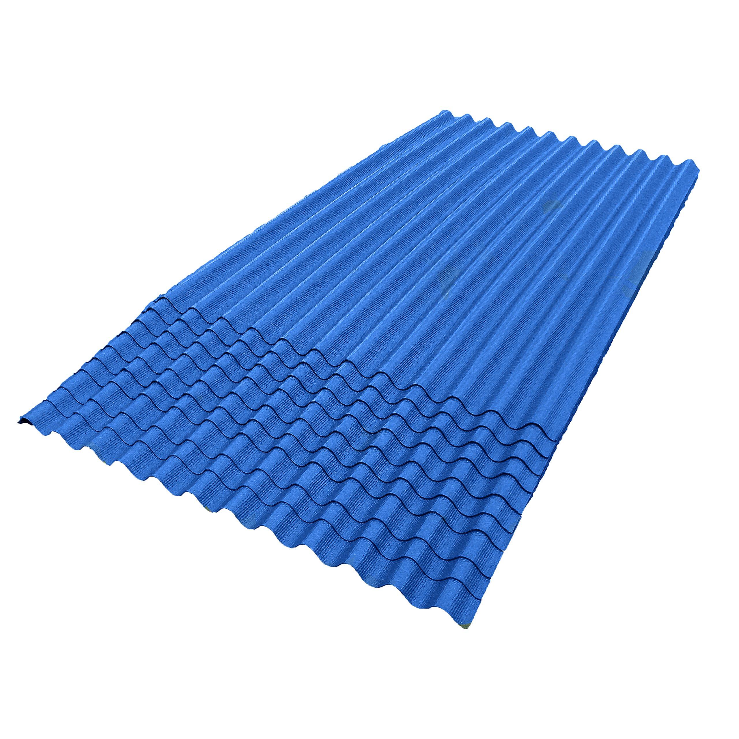 ONDURA 105 Corrugated Asphalt Roofing (10-Pack), Blue
