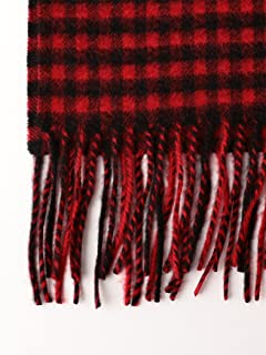 Cashmere Scarf 1336-699-3268: Red Gingham