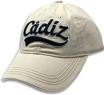 ONE & ONE HATS Gorra de Beisbol Clasica con Bordado de Cádiz España 3D, Color Beige y Logo Negro: Amazon.es: Ropa y accesorios