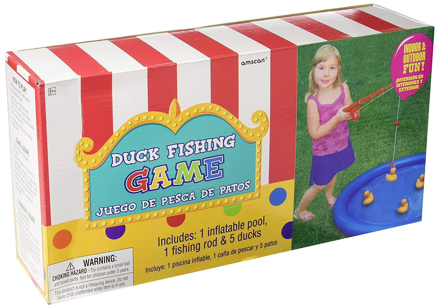 Amscan Carnival Fair Fun Duck Fishing Game Party Along With Reel Parts Diagram Double Pole Relay Activity Plastic 3 X 7 Toys Games