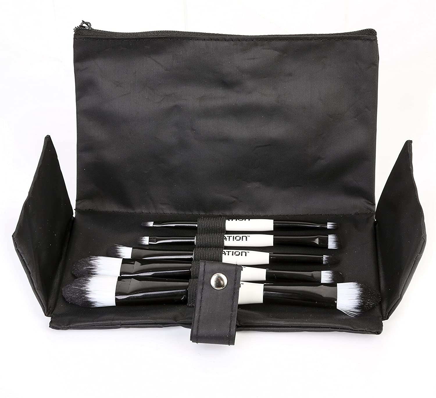 Ivation 5 Piece Double Sided Essential Brush Set with Travel Pouch, IVA-BRUSH-03