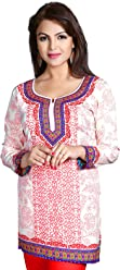 Women Fashion Printed Short Indian Kurti Tunic Kurta Top Shirt Dress 128C