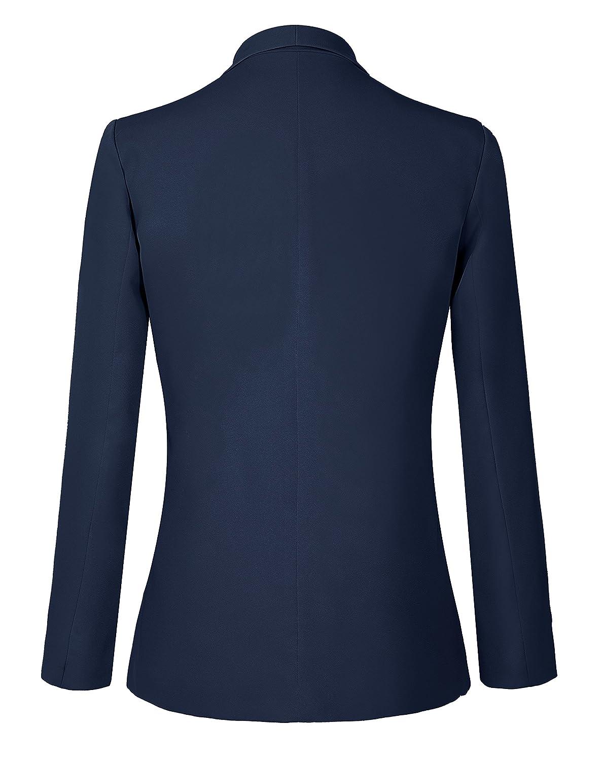 Urban GoCo Mujeres Blazers Chaqueta de Traje Slim Fit Elegante Oficina Negocios Outwear