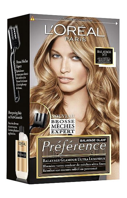 L\u0027Oréal Paris Préférence Kit Mèches Balayage Cheveux Blond Clair \u0026 Blond  Foncé Amazon.fr Beauté et Parfum
