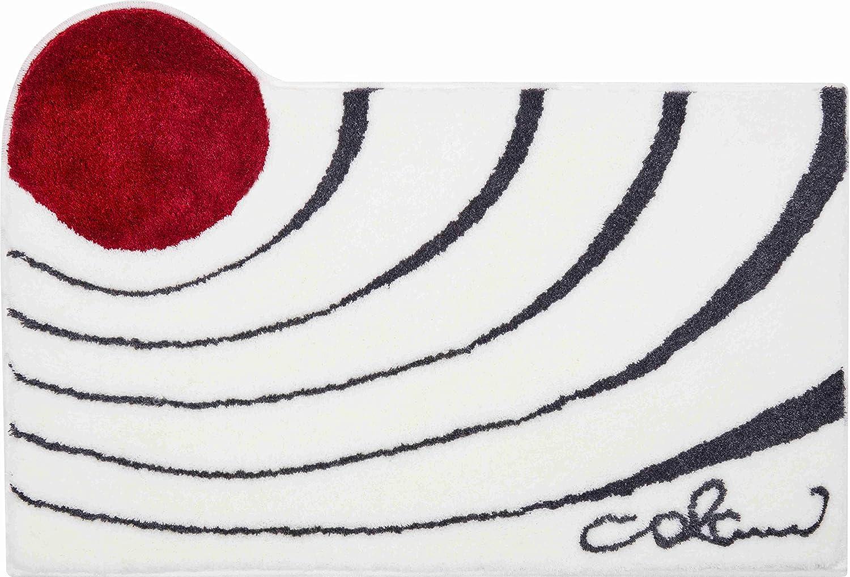 Grund COLANI Exklusiver Designer Badteppich 100% Polyacryl, ultra soft, rutschfest, ÖKO-TEX-zertifiziert, 5 Jahre Garantie, Colani 2, Badematte 60x100 cm, weiss