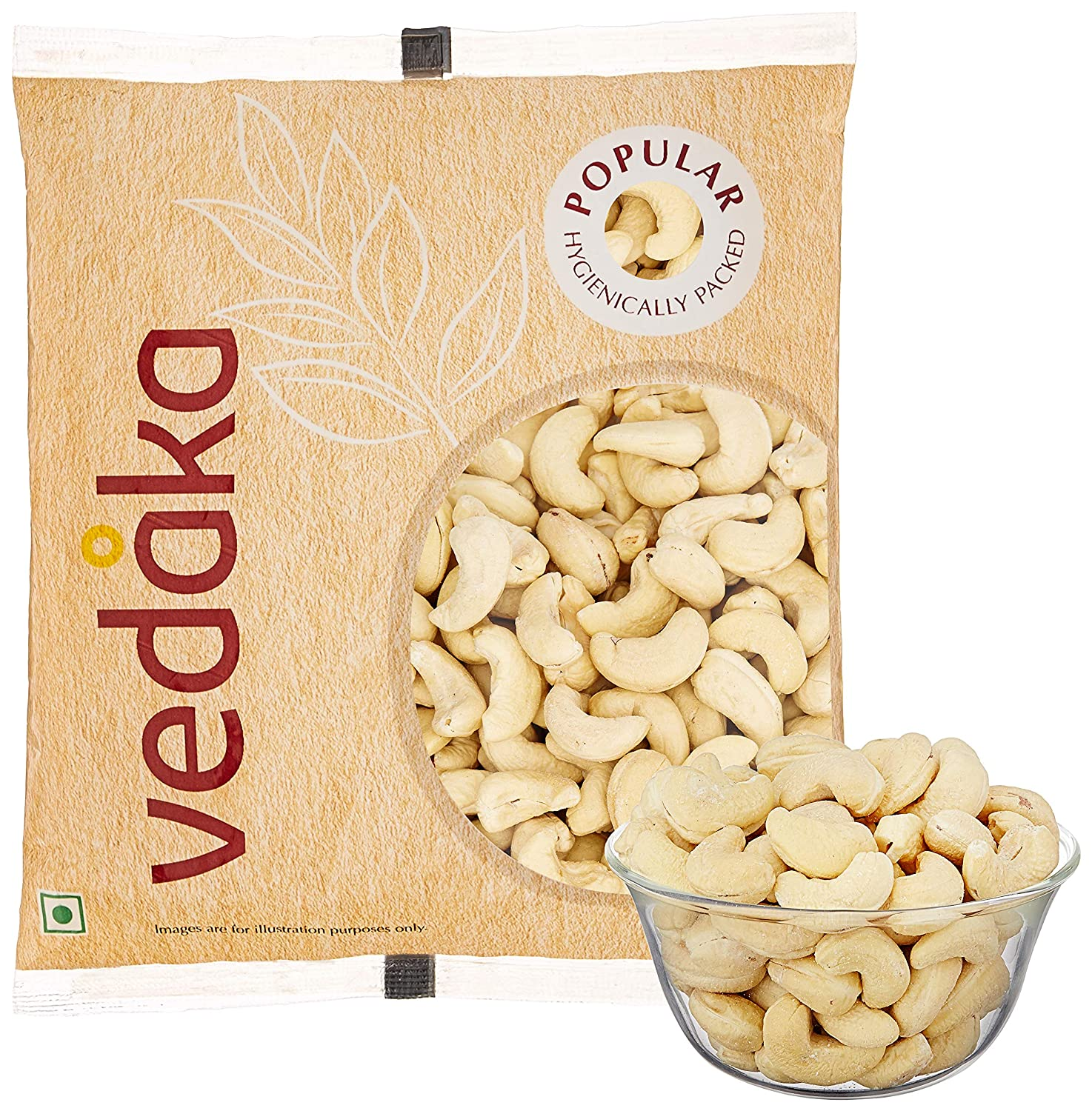 Vedaka Popular Whole Cashews, 200g