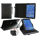 Emartbuy® Trekstor SurfTab Breeze 9.6 Quad 3G 9.6 Zoll Tablet Universal ( 9 - 10 Zoll ) Schwarz PU Leder 360GradrotierendeStandFolioGeldbörseTascheHülle + Schwarz Eingabestift