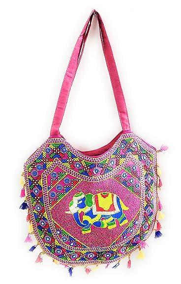 3204abd0c72b SUVASANA Indian Handicraft Rajasthani Jaipur Bohemian art Tote Bag ...