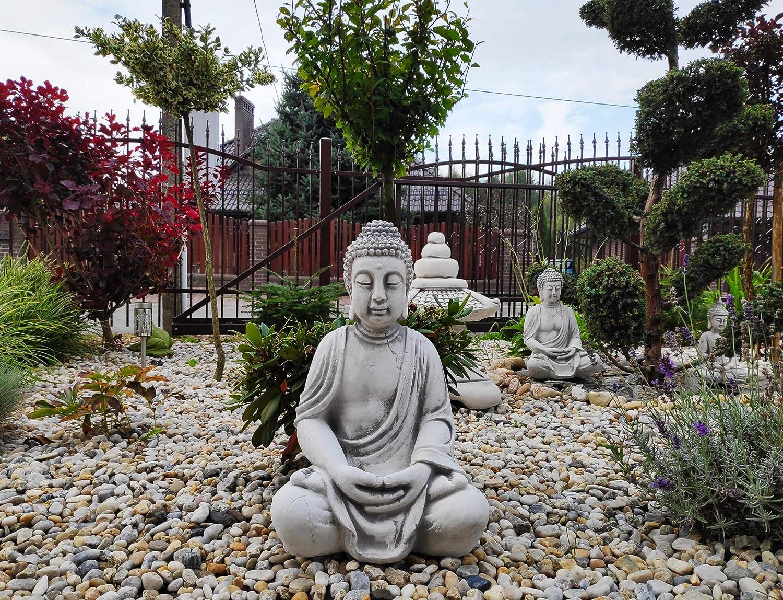 Green Lane Garden Statua in Pietra//Cemento del Buddha Gautama in Meditazione
