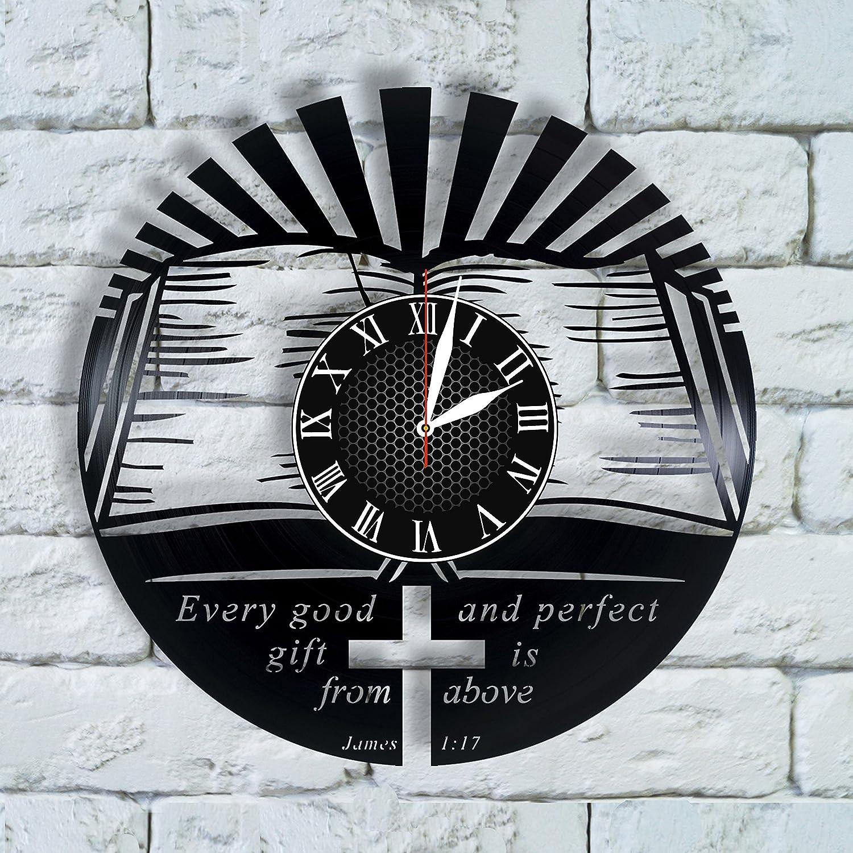 Christian Gifts Clock Christian Nursery Wall Art, Christian Gift Men, Jesus Loves me Wall Decor, Boyfriend boss Jesus is Coming My Superhero