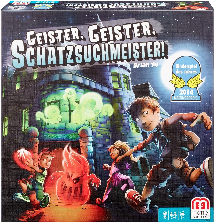 Mattel Games Y2554 - Geister Geister Schatzsuchmeister, Kinderspiel ...