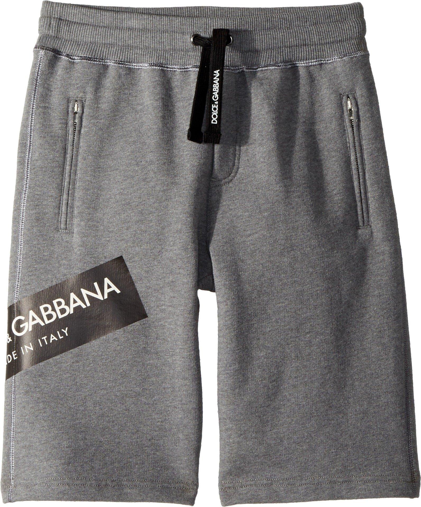 Dolce & Gabbana Kids Boy's Bermudas (Big Kids) Grey 10