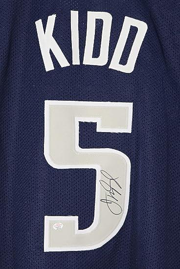 12c98f30f ... 2 Jersey COA Jason Kidd Dallas Mavericks Signed Autographed Blue 5  Custom Jersey PAAS COA Jason Kidd Jersey adidas ...