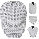 Car Seat Cover - Breastfeeding/Nursing Cover - All-in-1 Nursing Canopy – Car seat Canopy - Breastfeeding Scarf - Stroller/Bas