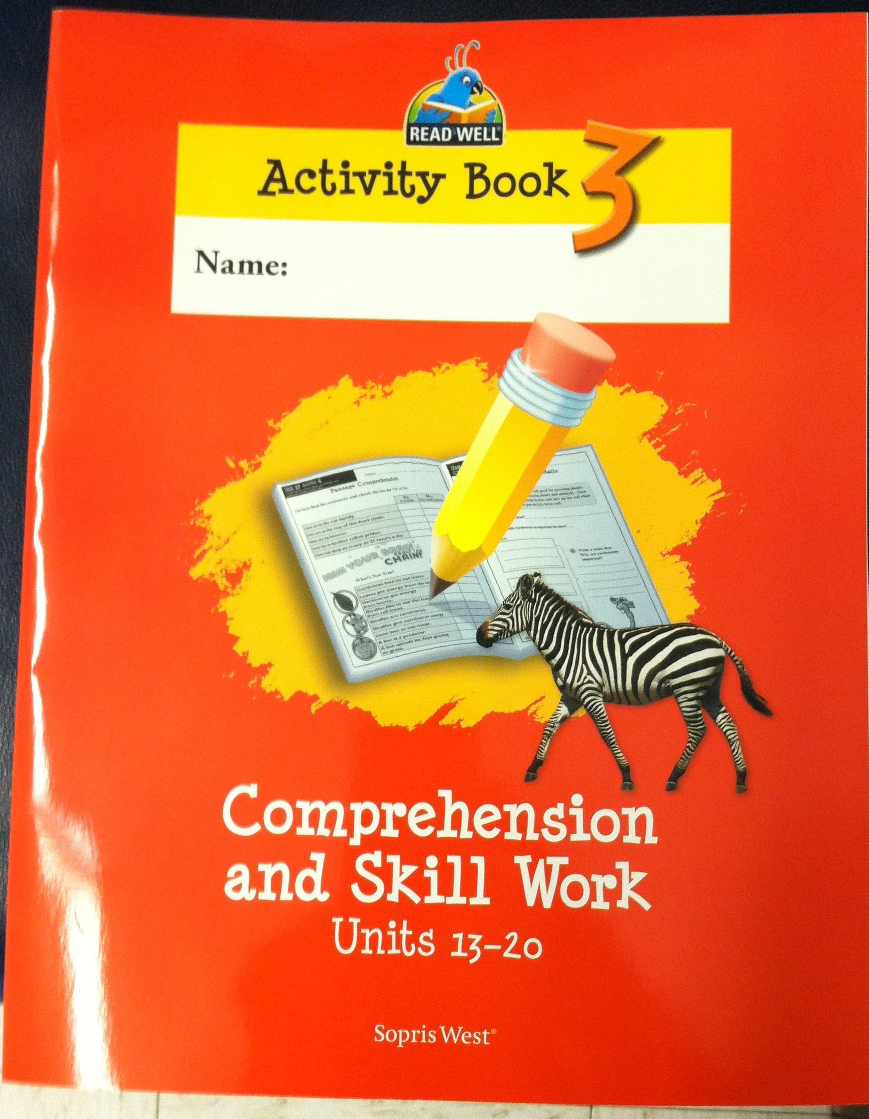 Download Read Well Activity Book 3 Comprehension and Skill Work Units 13-20, Level 2 ebook