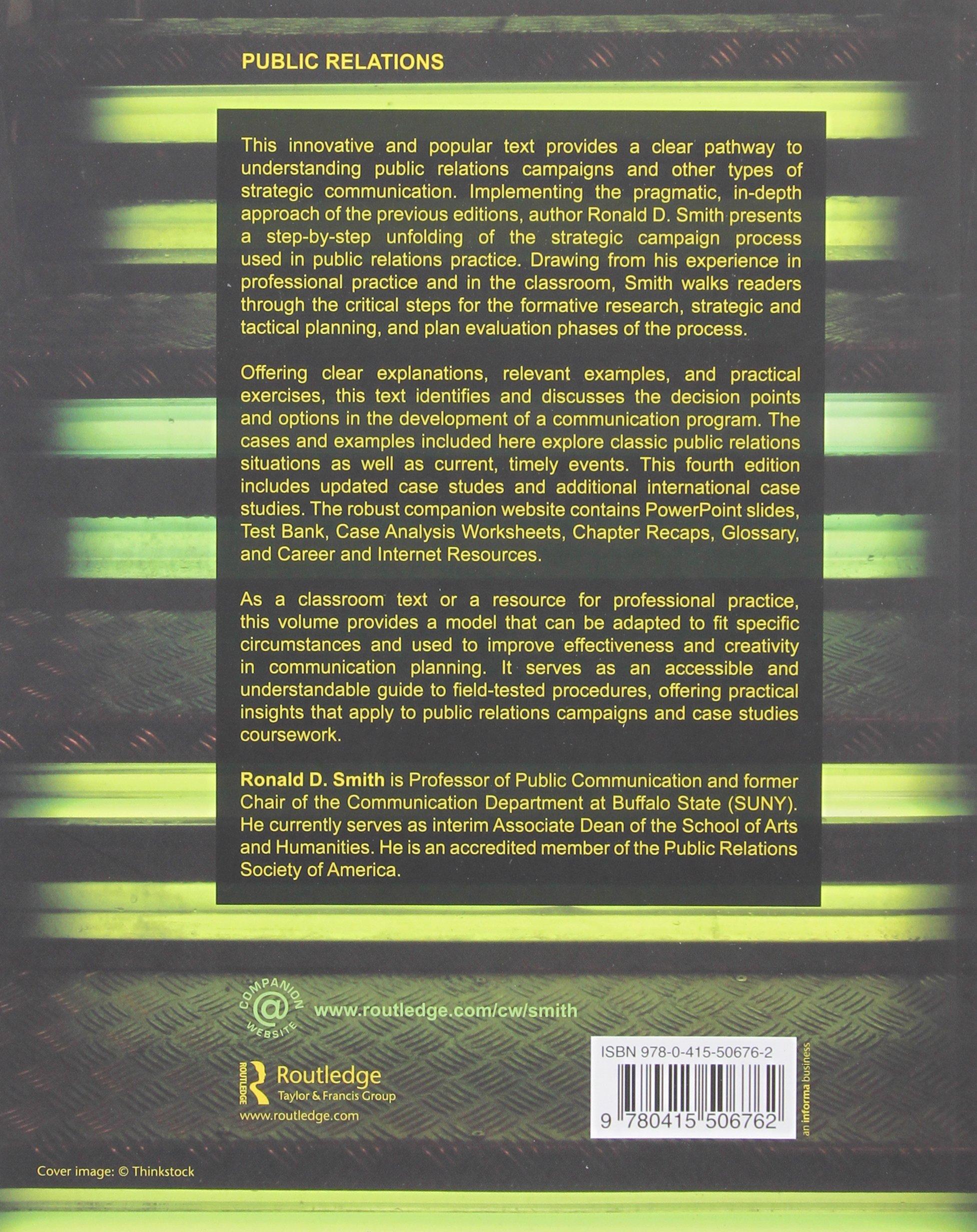 Strategic Planning for Public Relations: Amazon co uk: Ronald D