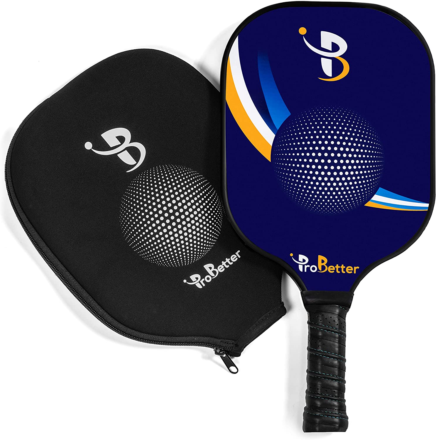 ProBetter Pickleball Paddle - USAPA Approved - Graphite Face Honeycomb Core - Edge Guard - Pickleball Racket Cover - Premium Cushion Grip Provides ...