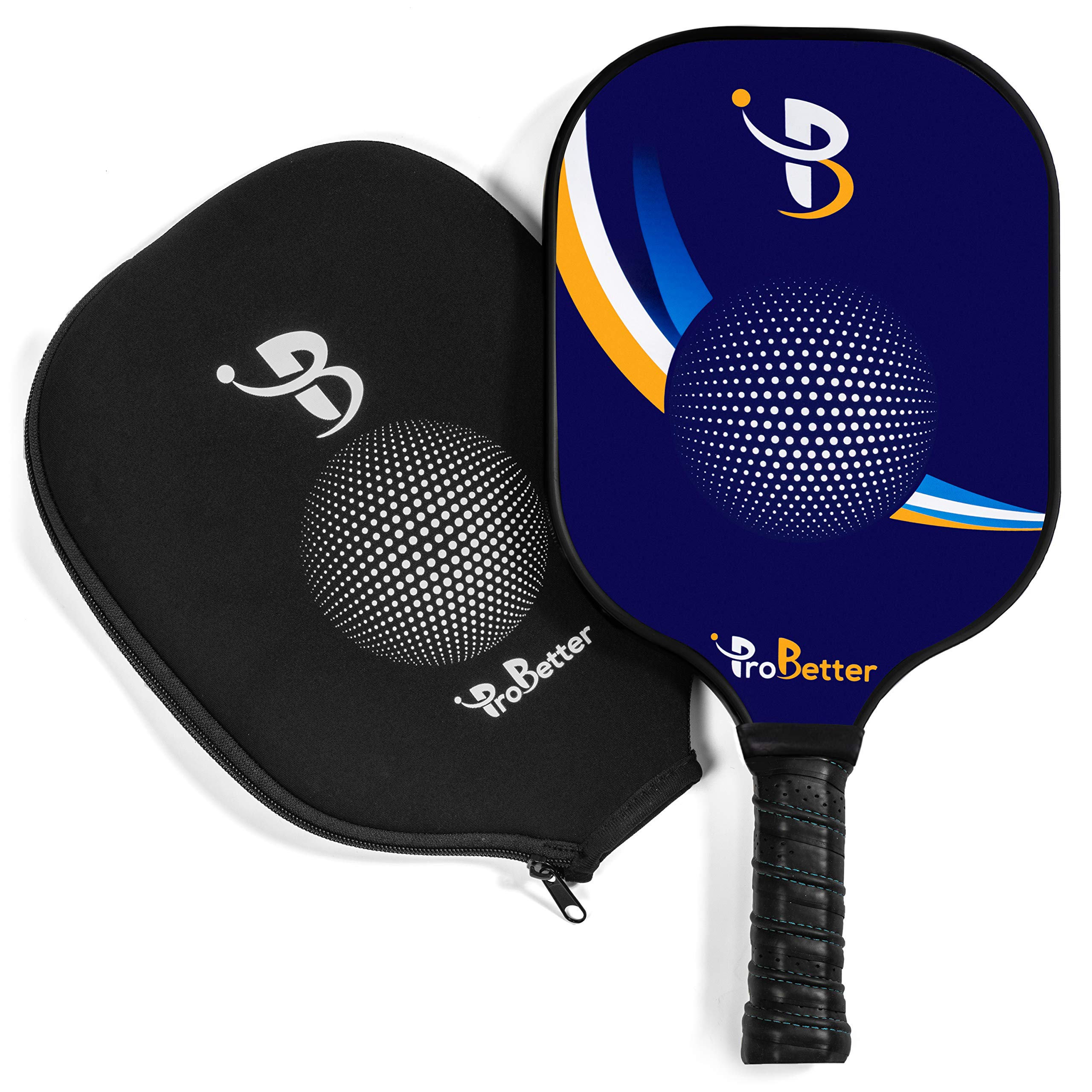 ProBetter Pickleball Paddle Graphite Face Polymer Honeycomb Core - Edge Guard - Racket Cover - Premium Cushion Grip Provides Perfect Balance Power Control for Players of All Levels by ProBetter