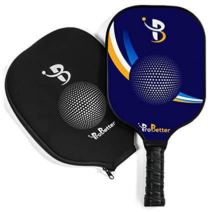 ProBetter Pickleball Paddle Graphite Face Polymer Honeycomb Core - Edge Guard - Racket Cover - Premium Cushion Grip Provides Perfect Balance Power ...