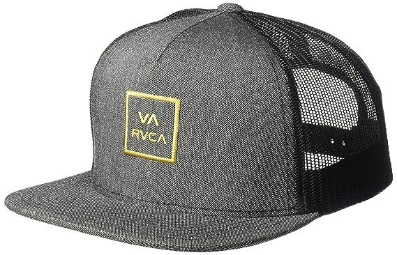 half off 7ac15 86eee RVCA Boys  Big VA All The Way Trucker HAT, Dark Charcoal Heather, One