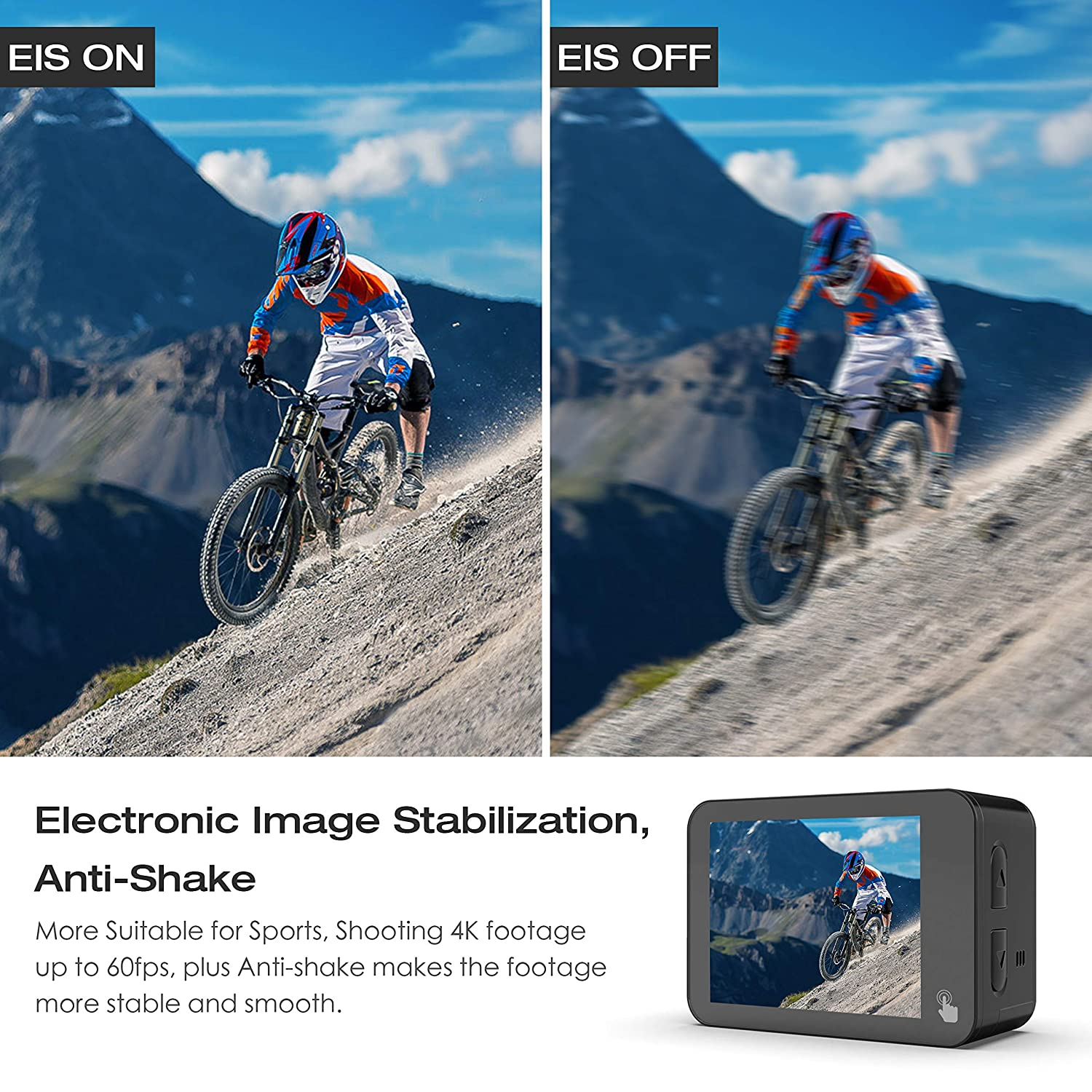 Campark X30 4K/60fps Action Camera 20MP Wifi EIS: Amazon co