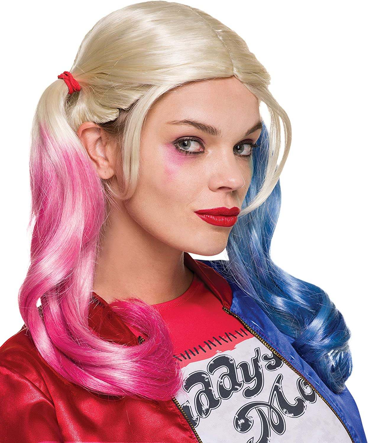 Suicide Squad Harley Quinn Wig Gradient Hair Blue+Pink Fancy Cosplay Party Wigs